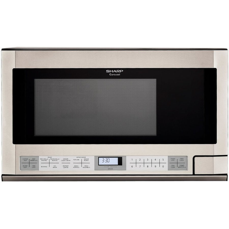 shop sharp carousel 1 5 cu ft built in microwave with sensor cooking rh lowes com Sharp Carousel Microwave Wattage Sharp Carousel Microwave Over Range