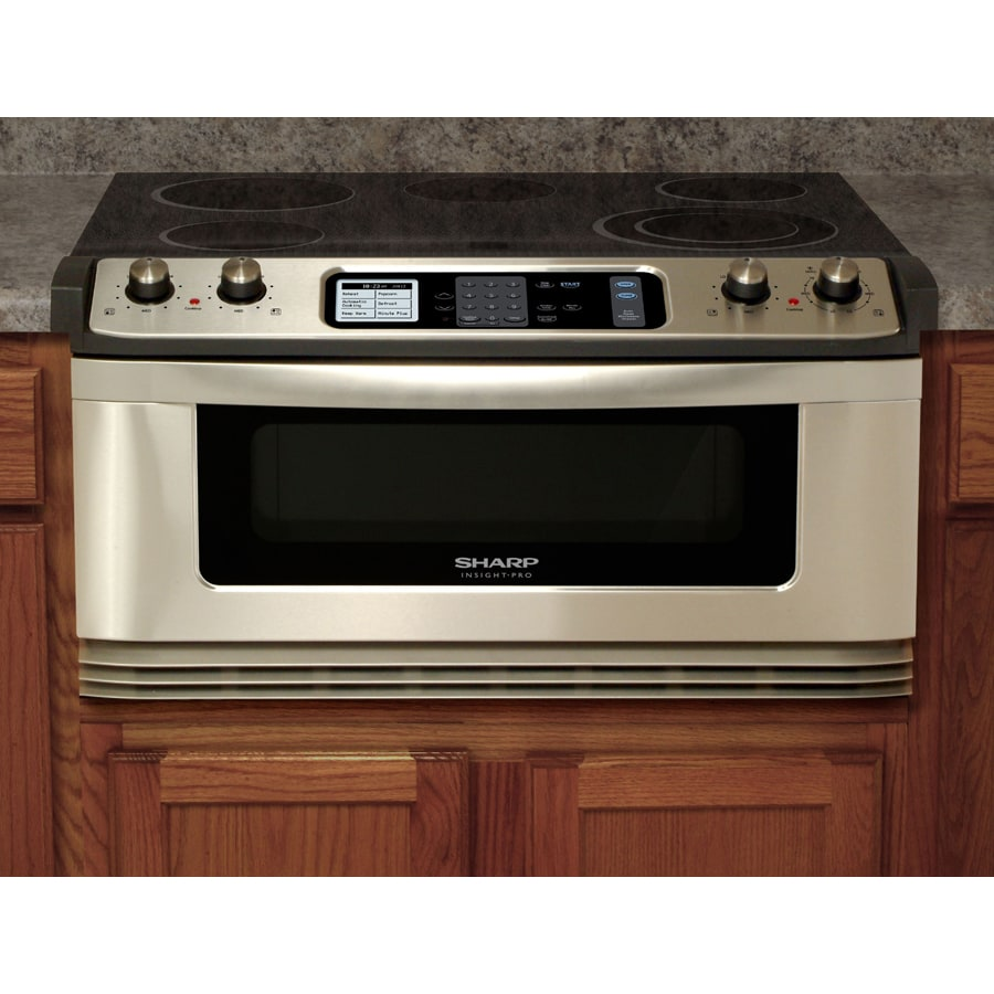 steel at drawers lowes pl drawer stainless sharp cu inch ft com microwaves common appliances shop microwave