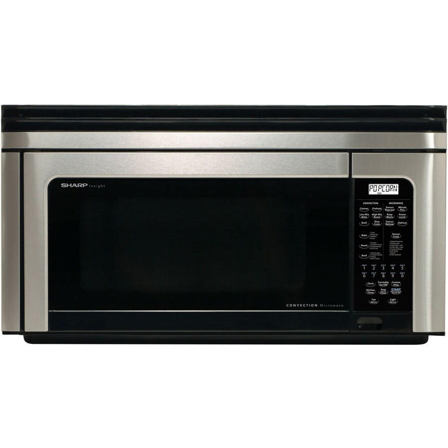 Sharp 1.1-cu ft Over-The-Range Convection Oven Microwave with Sensor Cooking Controls (Stainless Steel) (Common: 30-in; Actual: 30-in)