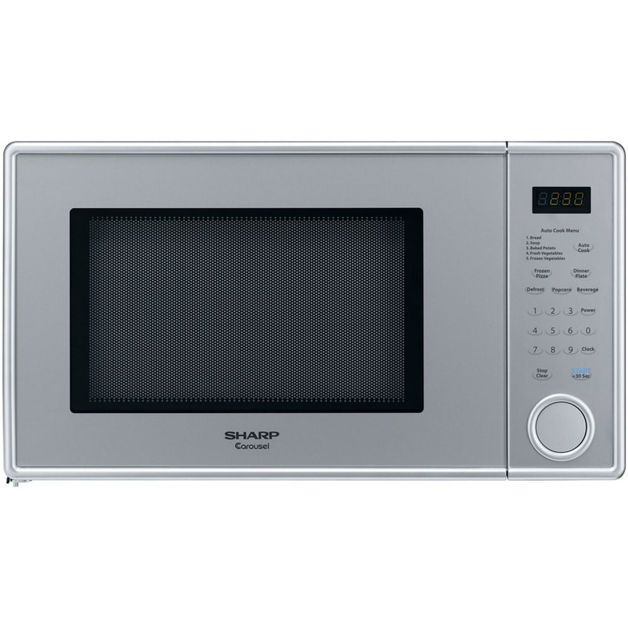Sharp Carousel 1.1-cu ft 1,000-Watt Countertop Microwave (Pearl Silver)