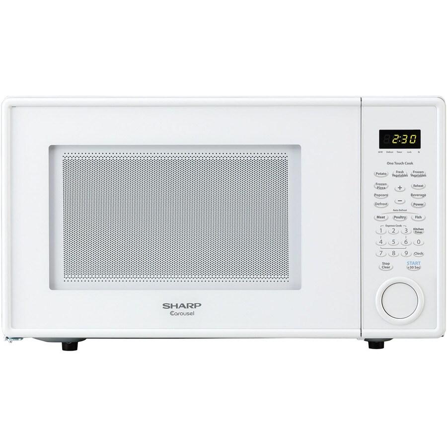 Sharp 1.1-cu ft 1,000-Watt Countertop Microwave (Smooth White)