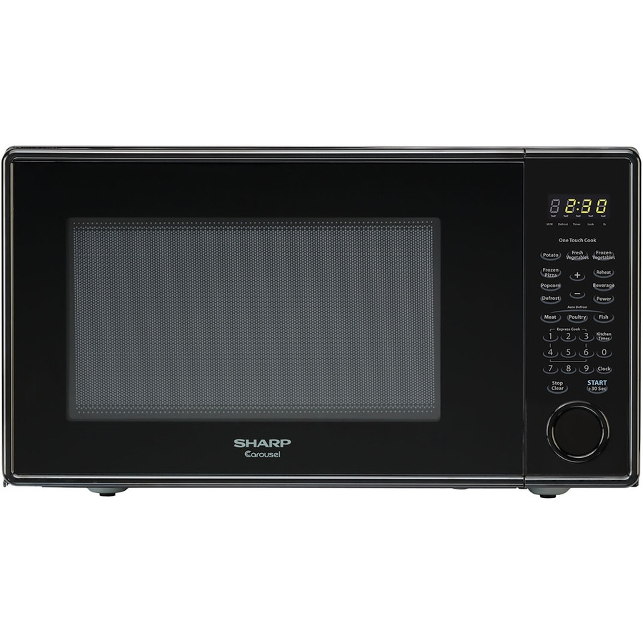 Sharp 1.1-cu ft 1,000-Watt Countertop Microwave (Smooth Black)