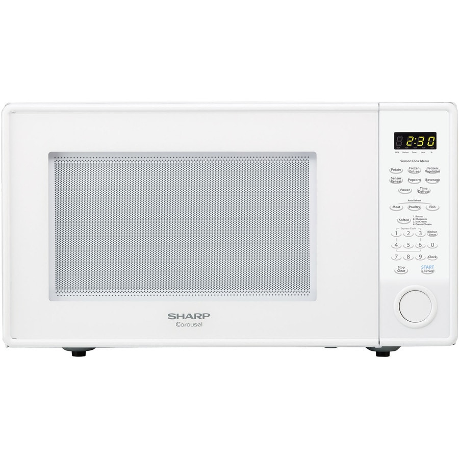 Sharp 1.8-cu ft 1100-Watt Countertop Microwave (White)