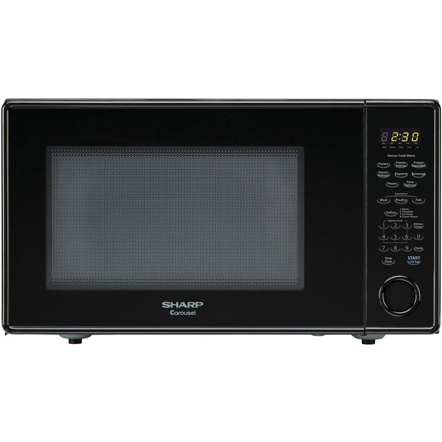 Sharp 1 8 Cu Ft 1100 Watt Countertop Microwave Black
