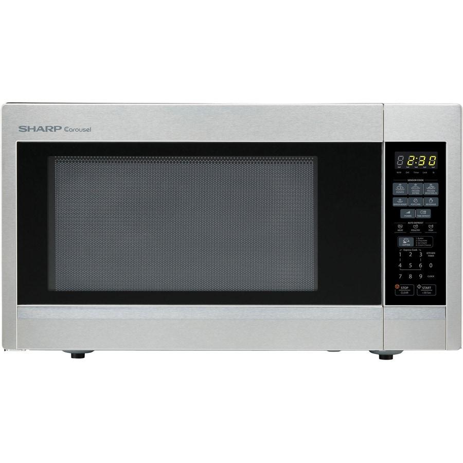 Sharp 1.8-cu ft 1100-Watt Countertop Microwave (Stainless Steel)