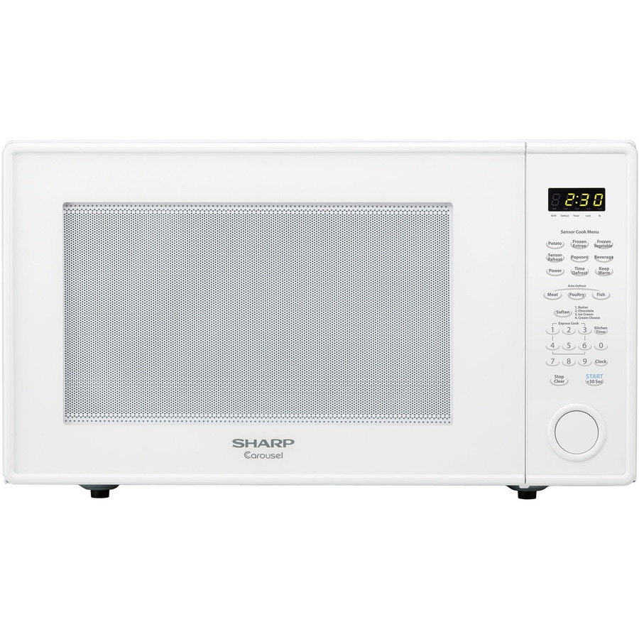 Sharp 2.2-cu ft 1,200-Watt Countertop Microwave (White)