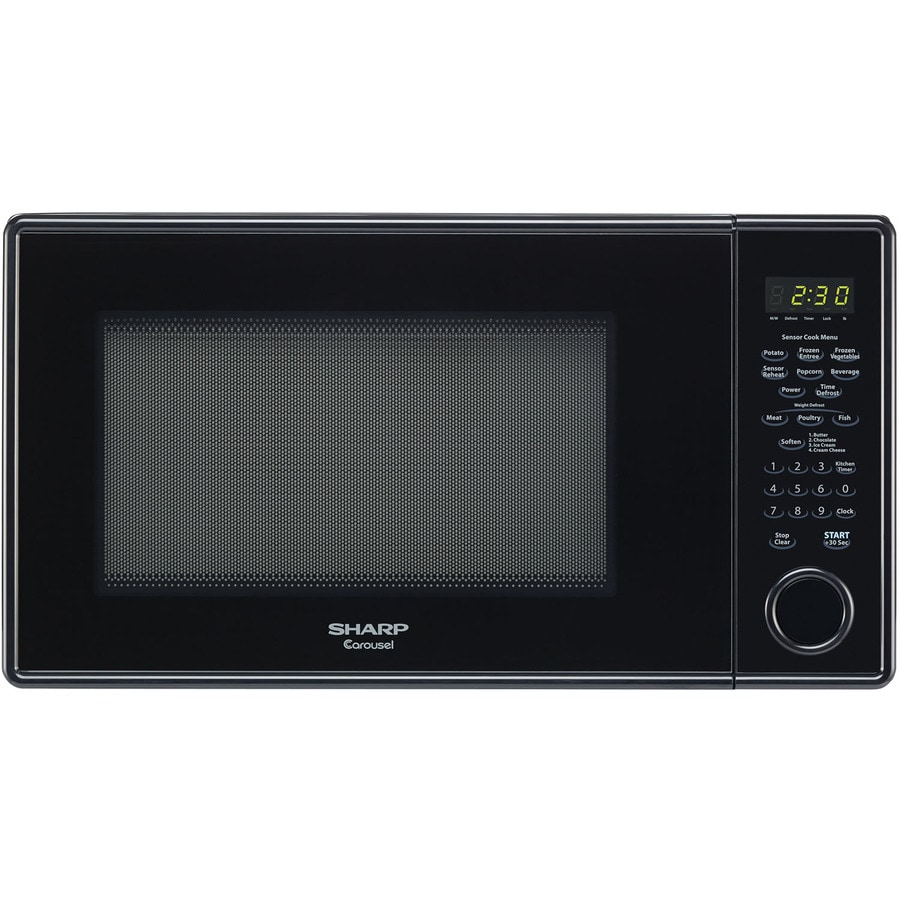 Sharp 1.3-cu ft 1,000-Watt Countertop Microwave (Black)
