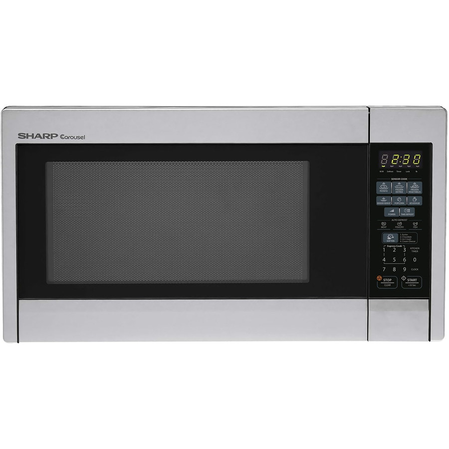 Sharp 1.3-cu ft 1,000-Watt Countertop Microwave (Stainless Steel)