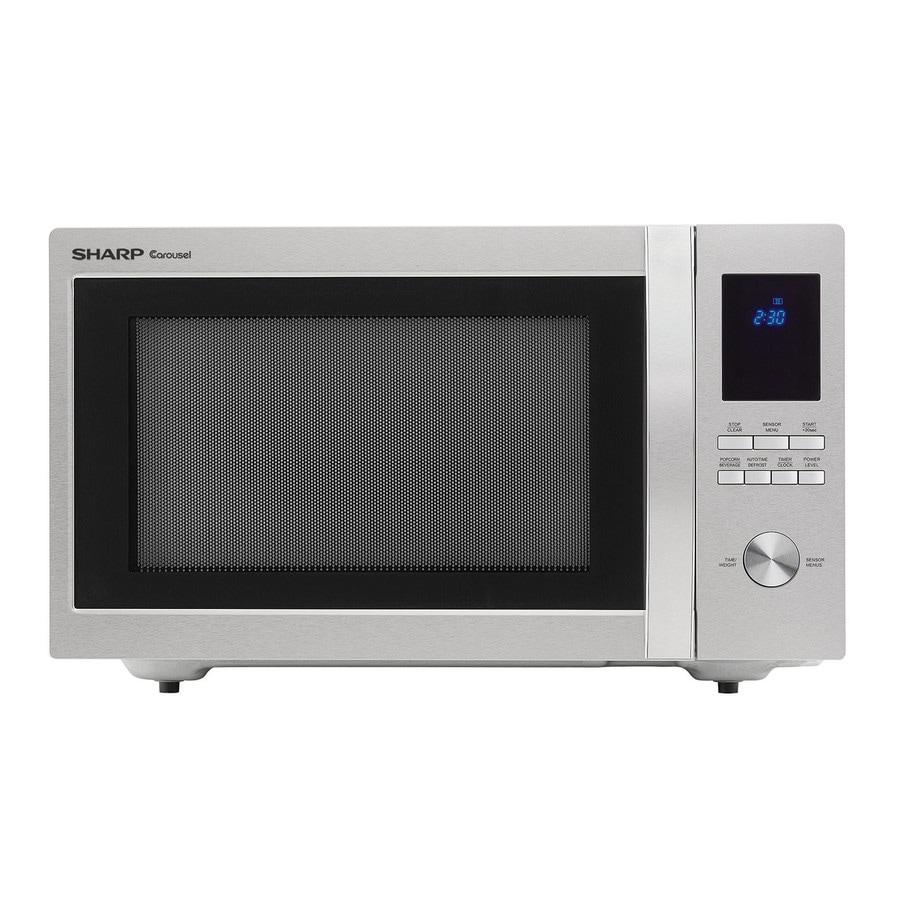 Sharp 1 6 Cu Ft 100 Watt Countertop Microwave Stainless Steel