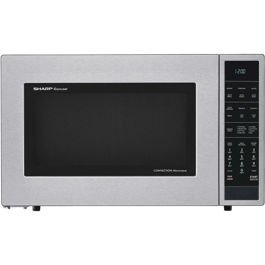 Sharp 1 5 Cu Ft 900 Watt Countertop Convection Microwave Stainless Steel