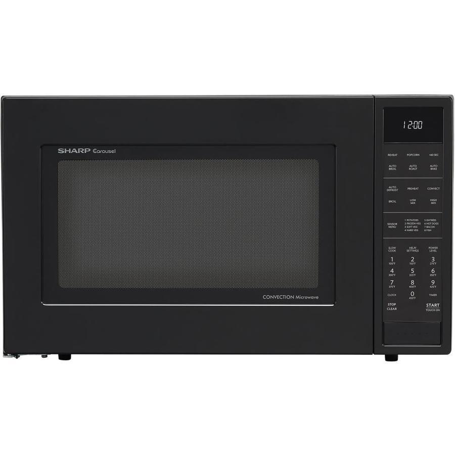 Sharp 1 5 Cu Ft 900 Watt Countertop Convection Microwave Black
