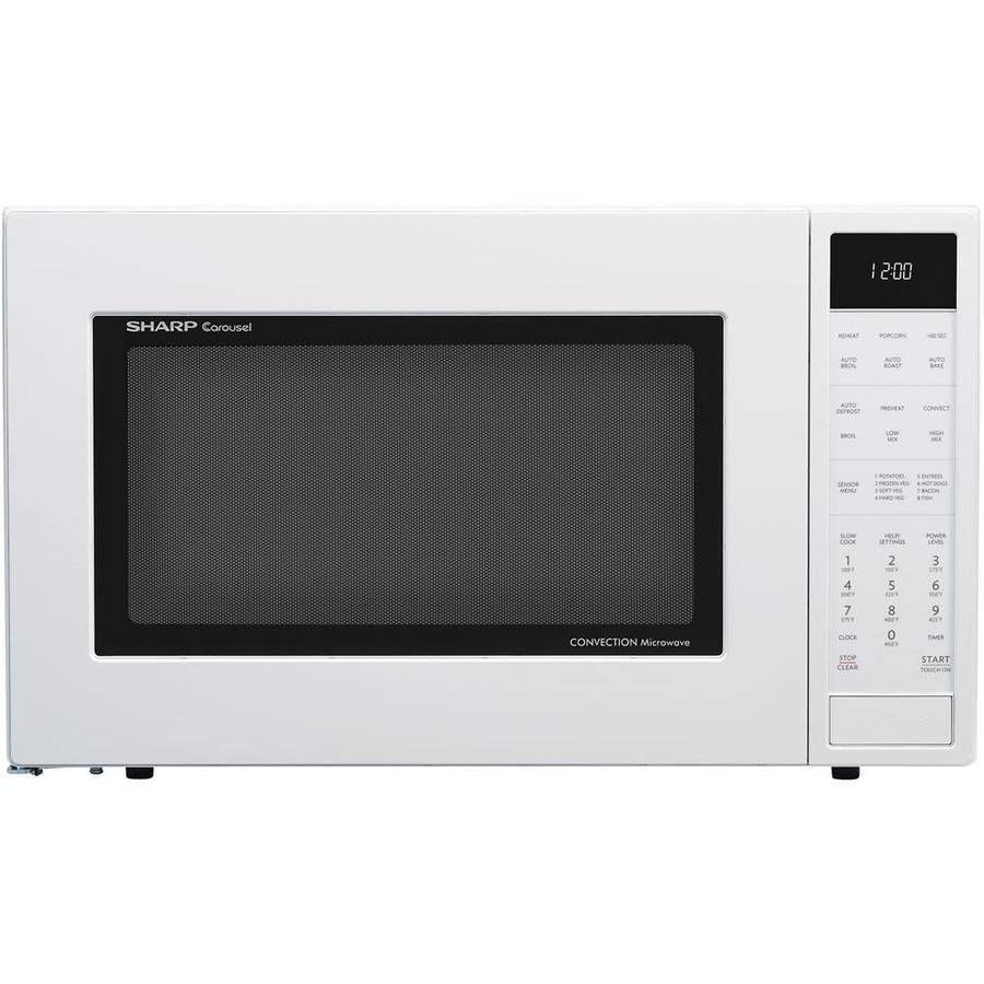 Sharp 1 5 Cu Ft 900 Watt Countertop Convection Microwave White