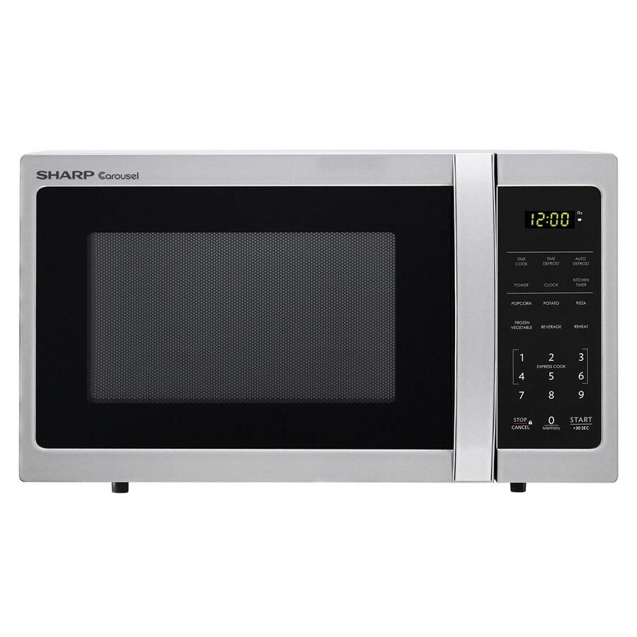 Sharp 0 7 Cu Ft 700 Watt Countertop Microwave Stainless Steel