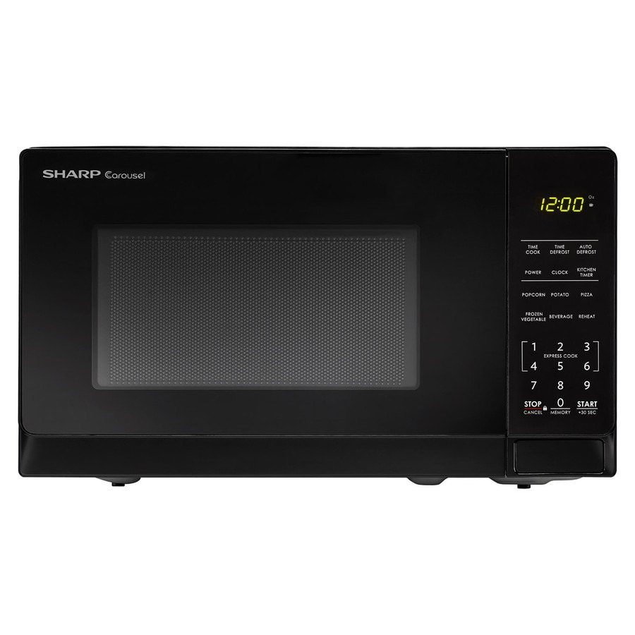 Sharp 0 7 Cu Ft 700 Watt Countertop Microwave Black