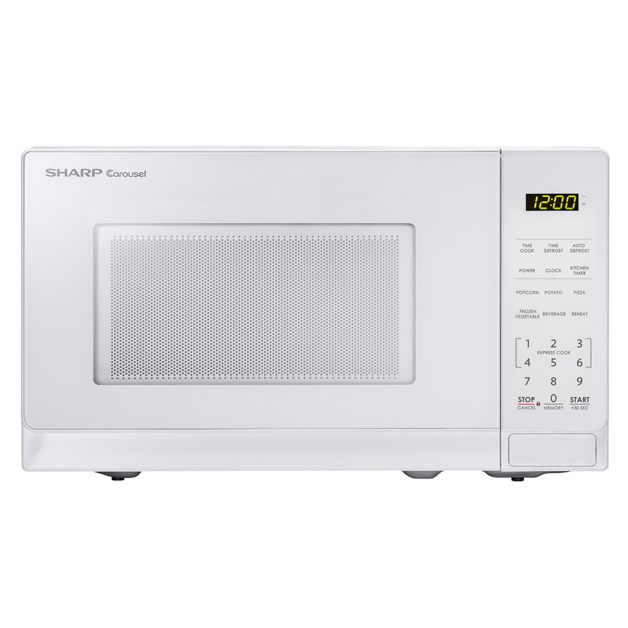 Shop Sharp 0 7 Cu Ft 700 Watt Countertop Microwave White