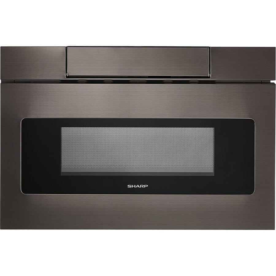 Sharp 1 2 Cu Ft Microwave Drawer Black Stainless Steel Actual 23
