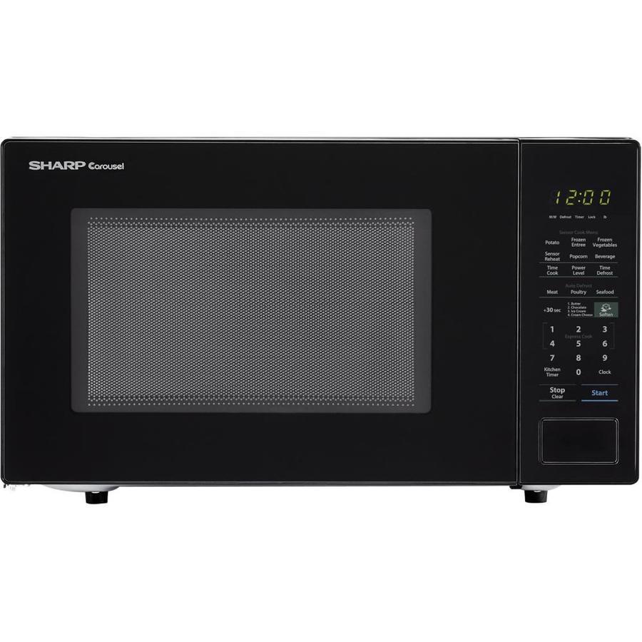 Sharp Carousel 1.4-cu ft 1000-Watt Countertop Microwave (Black)