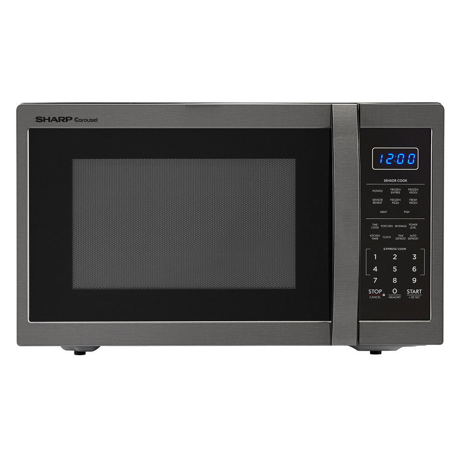 Sharp 1 4 Cu Ft 100 Watt Countertop Microwave Black Stainless Steel