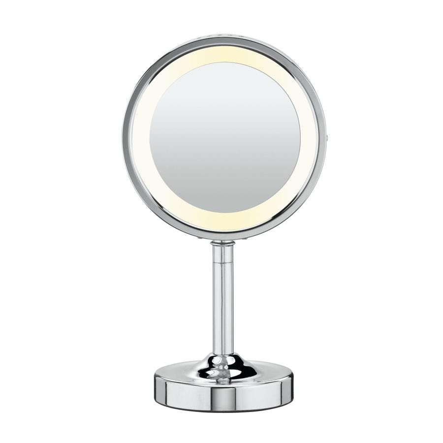 Conair Chrome Chrome Magnifying Countertop Vanity Mirror with Light