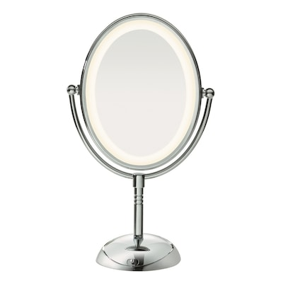 Conair Chrome Magnifying Countertop Vanity Mirror With