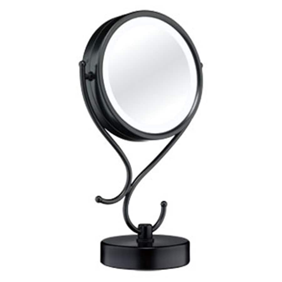 Lighted Vanity Mirror Chrome : Shop Conair Black Chrome Magnifying Countertop Vanity Mirror with Light at Lowes.com