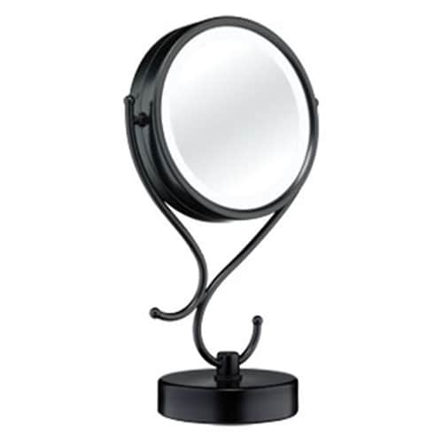 Conair Black Chrome Magnifying Countertop Vanity Mirror