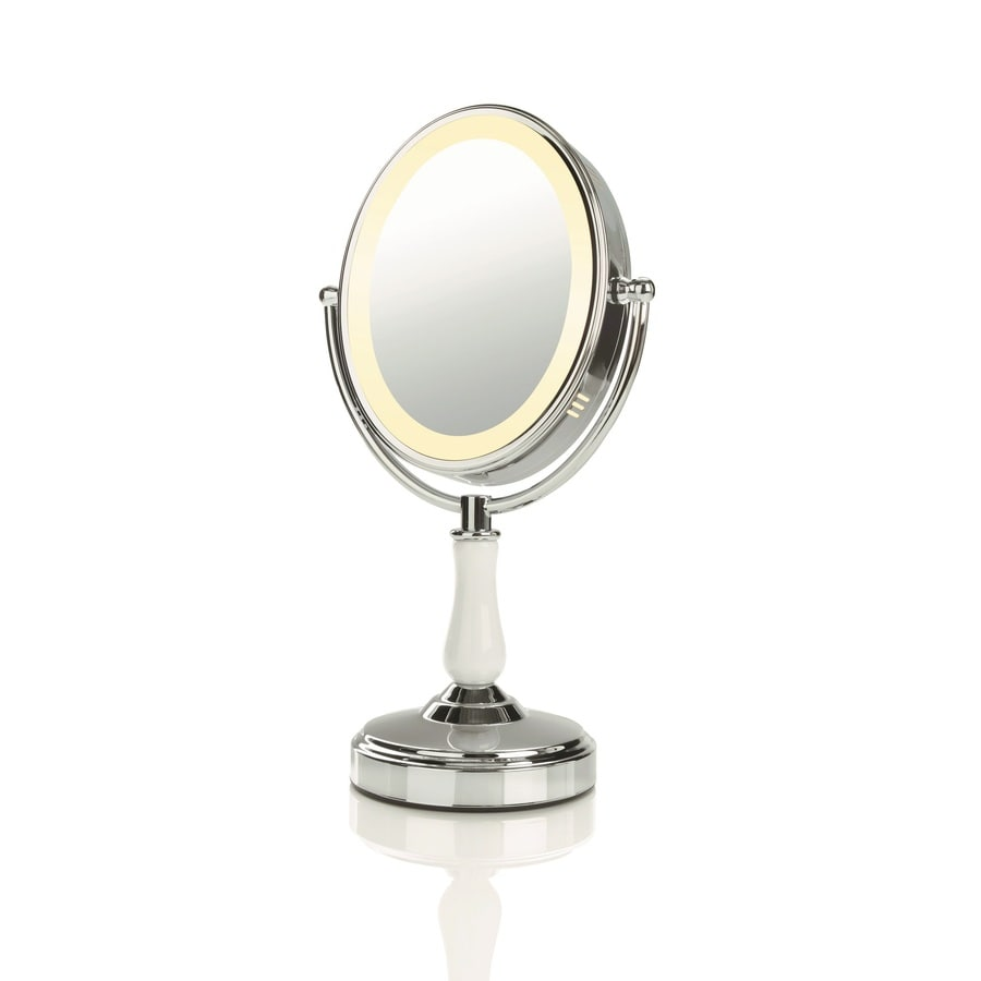 Shop Conair Chrome Magnifying Countertop Vanity Mirror with Light at Lowes.com