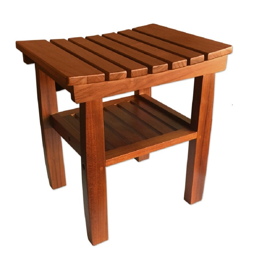 Shop Pollenex Wood Teak Freestanding Shower Seat at Lowes.com
