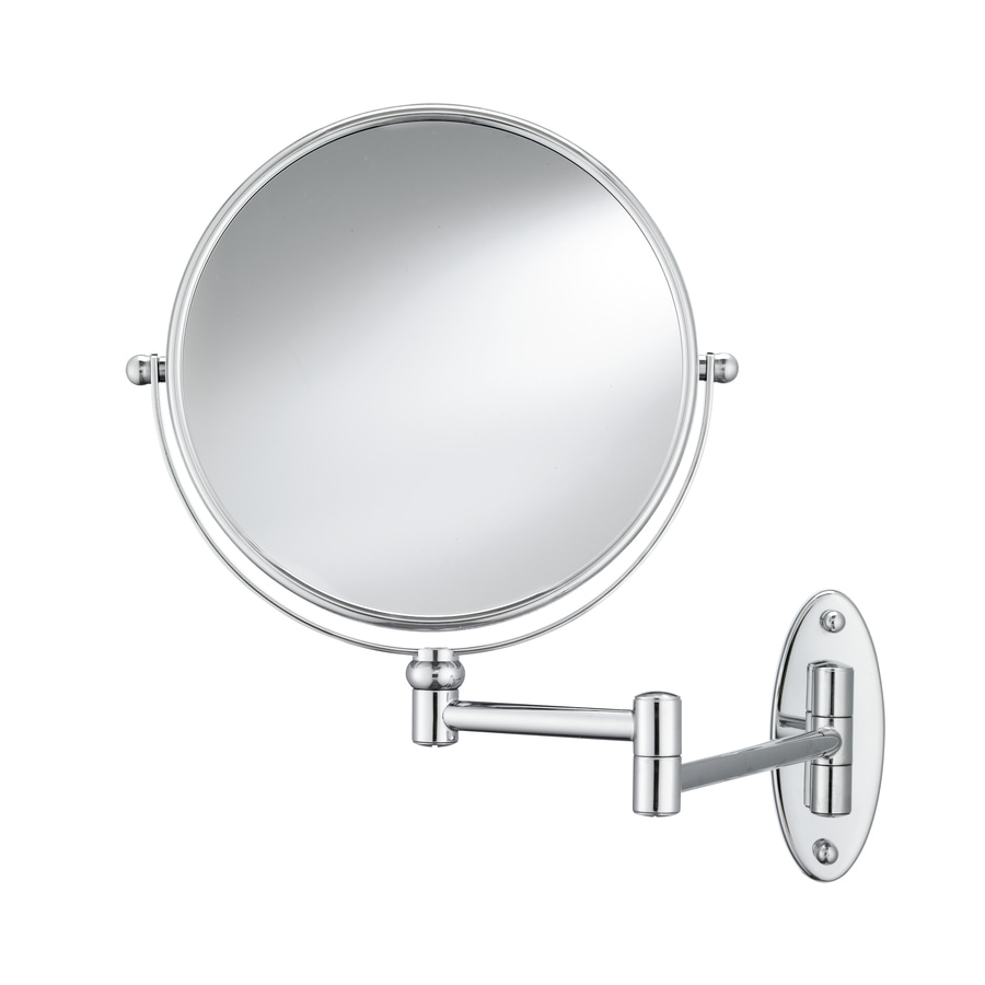 Conair Mirrors Metallic Metal And Glass Wall Mounted Vanity Mirror