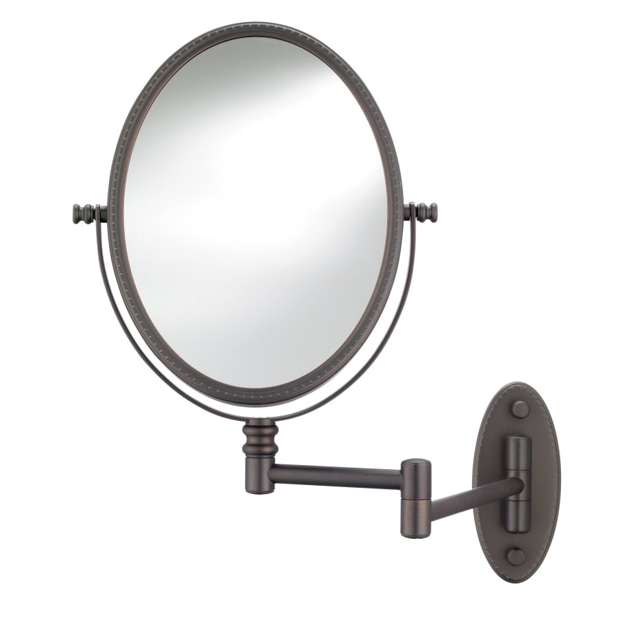 Shop conair oil rubbed bronze wall mounted vanity mirror for Wall mounted mirror
