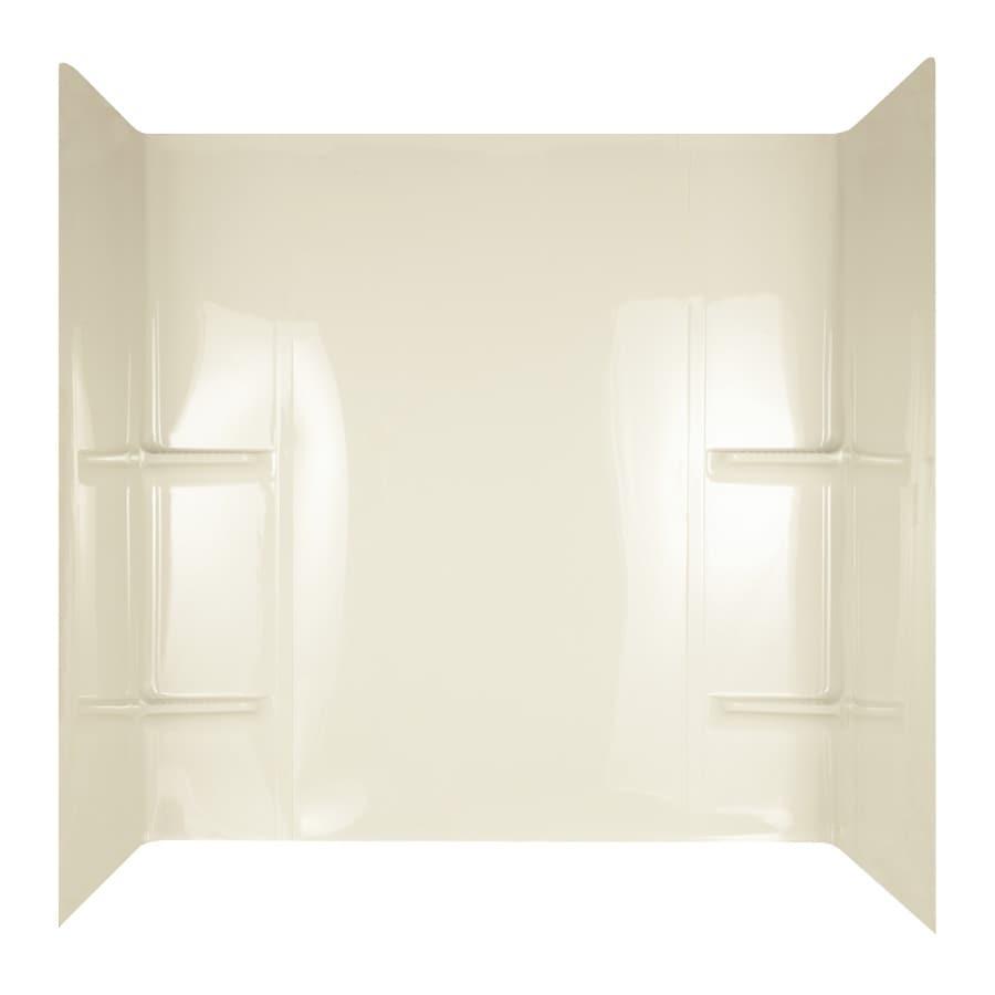 Aqua Glass Tempo 60-1/2-in W x 31-in D x 58-in H Textured Bone Polystyrene Bathtub Wall Surround