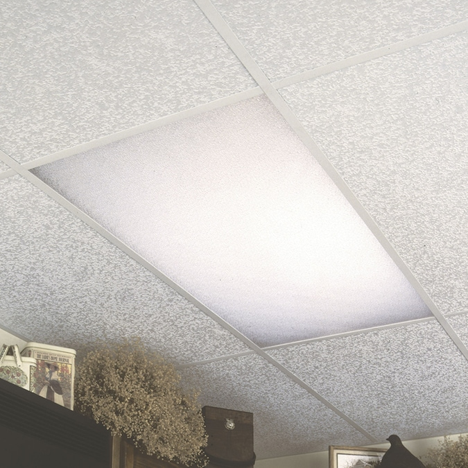 Duralens 24 In X 48 In 7 85 Sq Ft Cracked Ice Ceiling Light Panels In The Ceiling Light Panels Department At Lowes Com