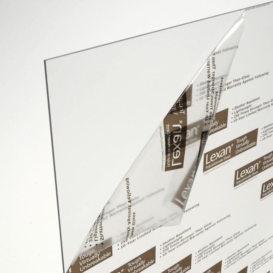 LEXAN 2.3333-ft x 2.5-ft x 2.3622-mil Clear Polycarbonate Sheet