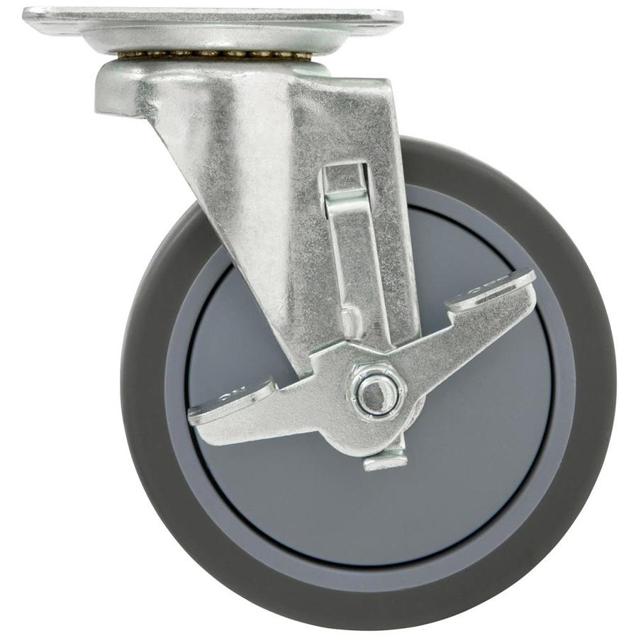 Waxman 5-in Rubber Swivel Caster