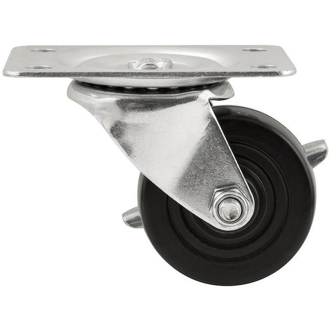 Titan 2 1 2 In Rubber Swivel Caster In The Casters Department At Lowes Com