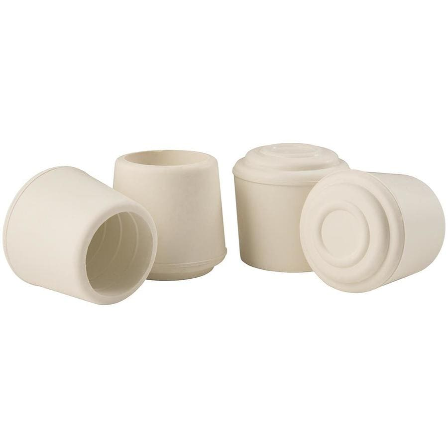 Shop waxman 4 pack 1 1 8 in white rubber hi tip at lowescom for Furniture leg pads lowes