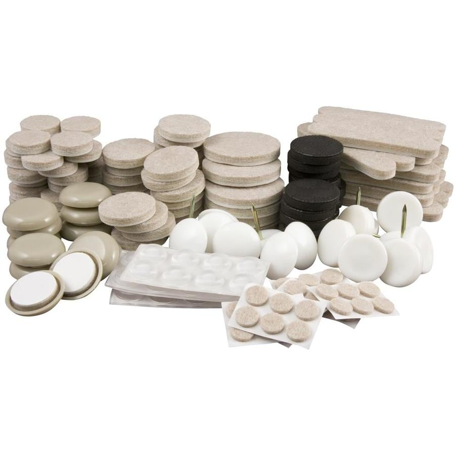 Waxman 180-Pack Cream Round Multi-Surface Protection Felt Pad Kit