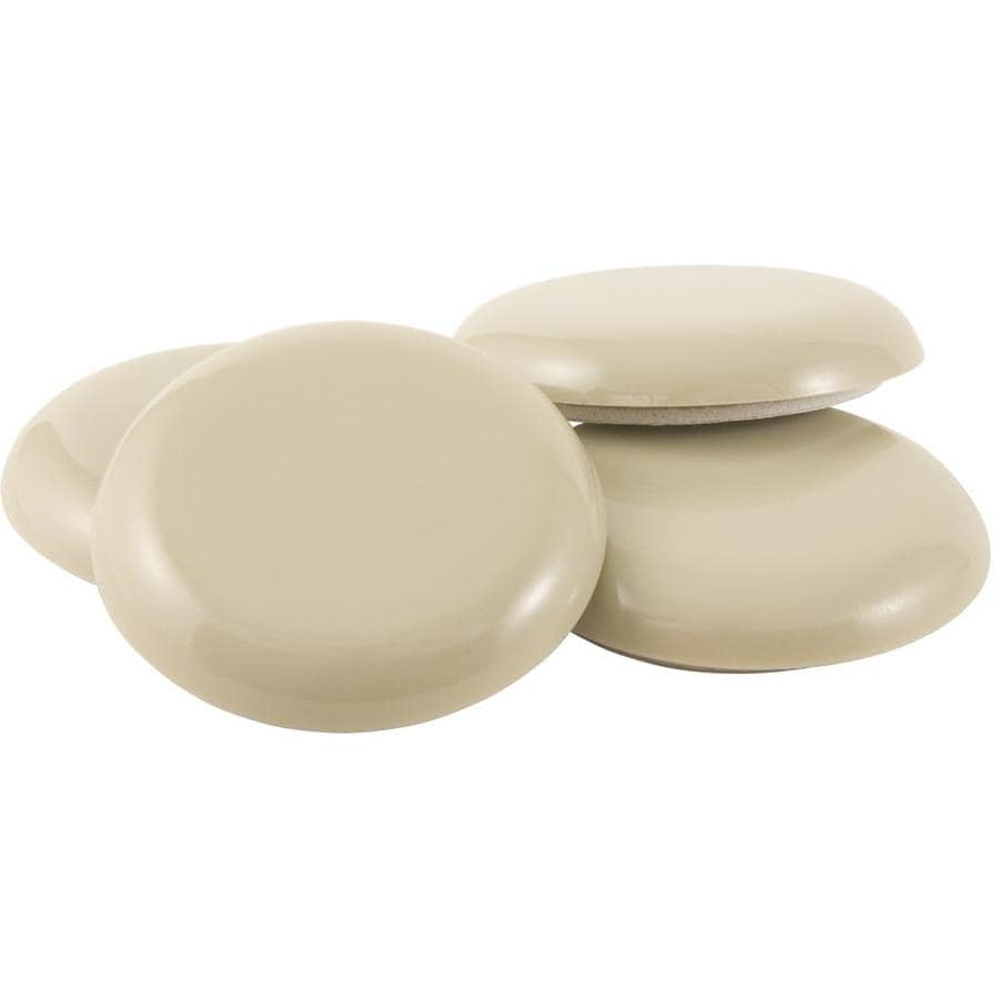 Shop Waxman 4 Pack Round Adhesive Backed Plastic Carpet Slider At