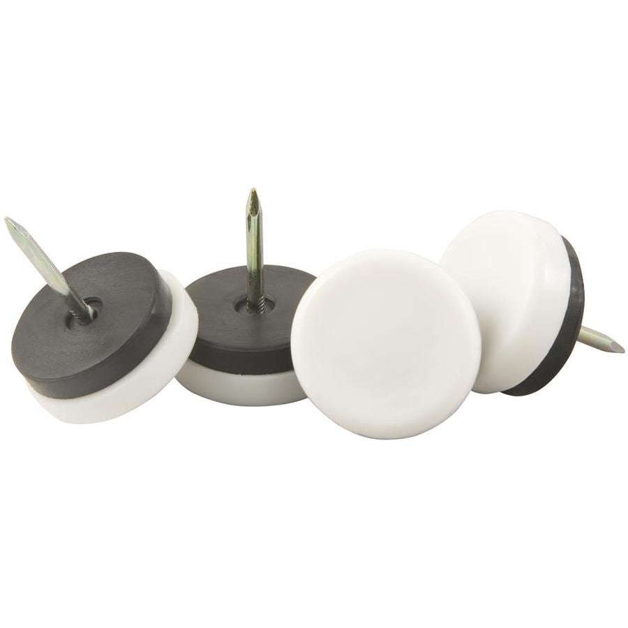 Waxman 4-Pack Rubber Non-Swivel Furniture Furniture Glides