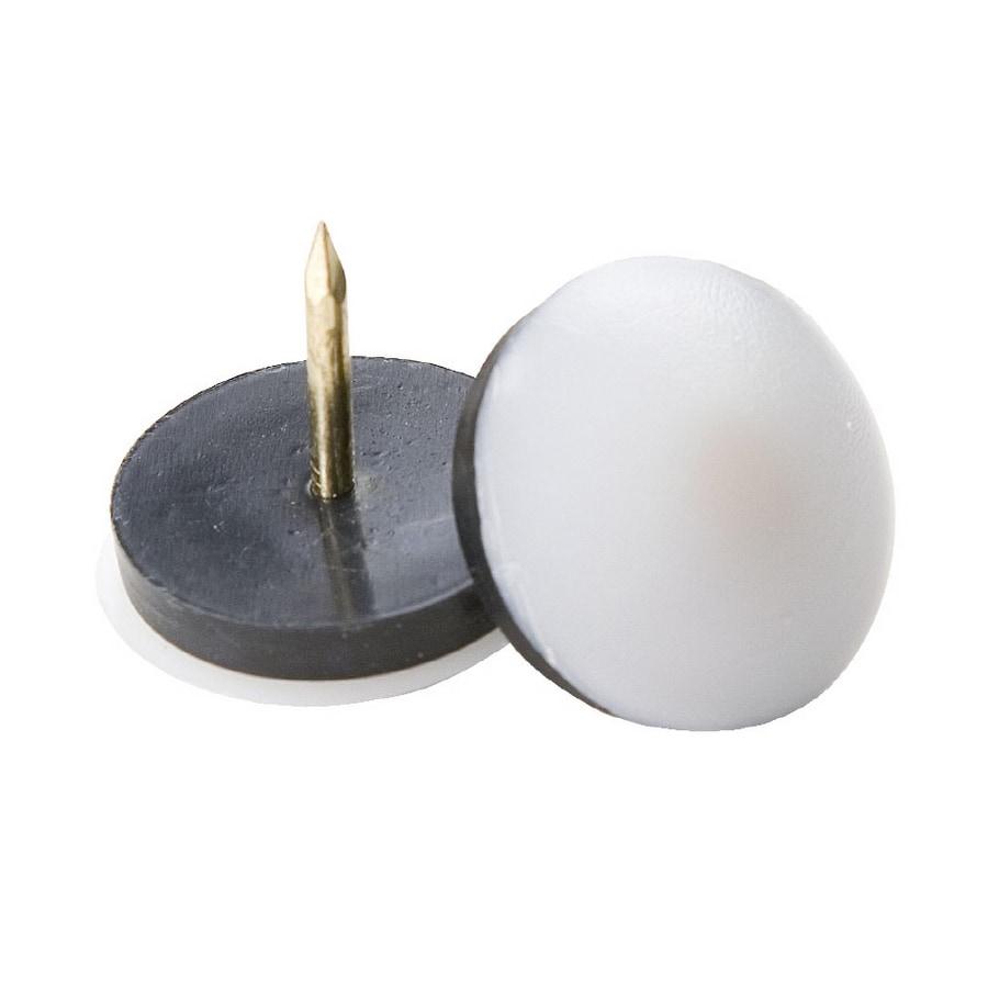 Waxman 4-Pack Rubber Non-Swivel Furniture Glides