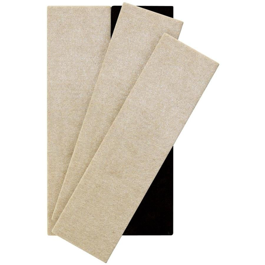 Waxman 4-Pack 2-1/2-in x 9 Rectangle Reusable Felt Hard Surface Slider
