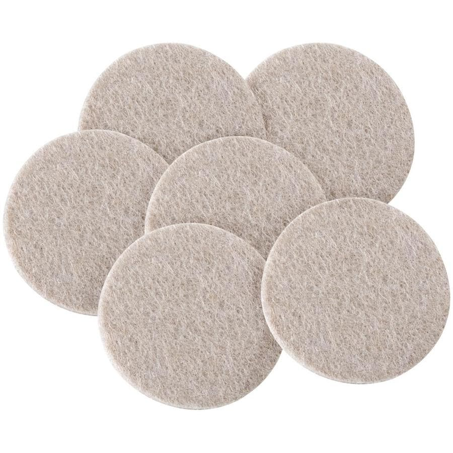 Shop Waxman 6 Pack Brown Round Felt Pad At