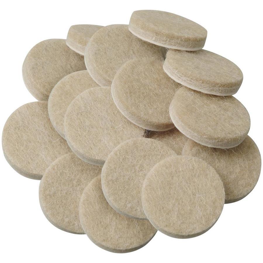 Waxman 16-Pack Oatmeal Round Felt Pad