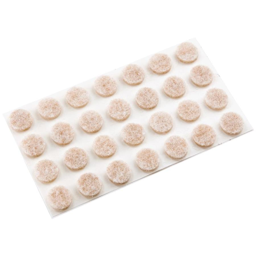 Waxman 20-Pack Oatmeal Round Felt Pad
