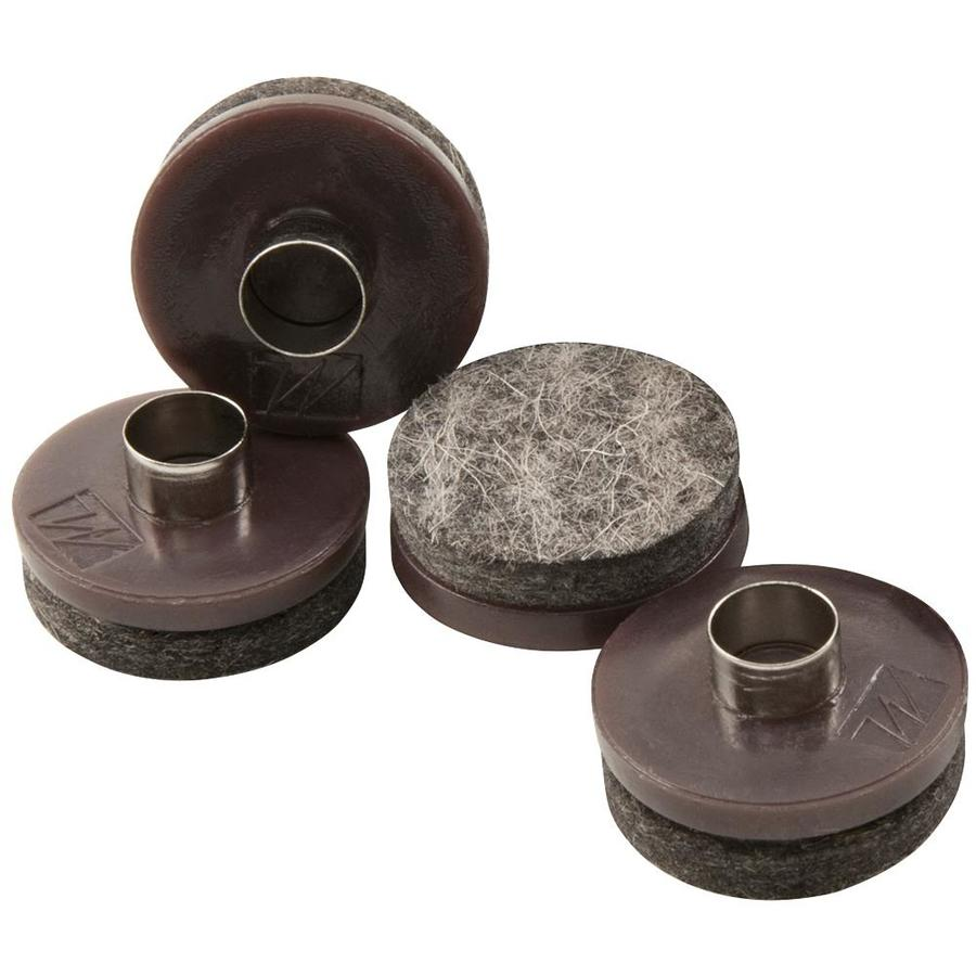 Waxman 4-Pack Brown Round Felt Pad