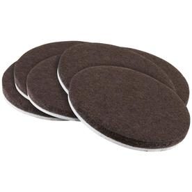 Waxman 6 Pack Brown Round Felt Pads