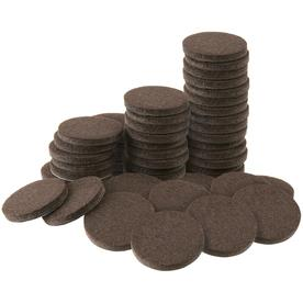 Beautiful Waxman 48 Pack Brown Round Felt Pad
