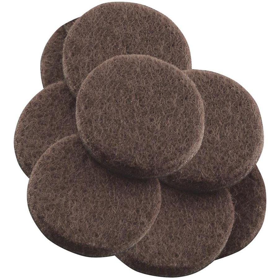 Waxman 8-Pack Brown Round Felt Pad