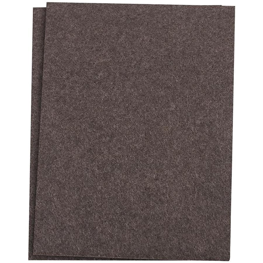 Waxman 2 Pack 4.5 In Brown Square Felt Pads