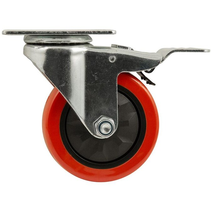 Titan 4 In Polyurethane Swivel Caster In The Casters Department At Lowes Com